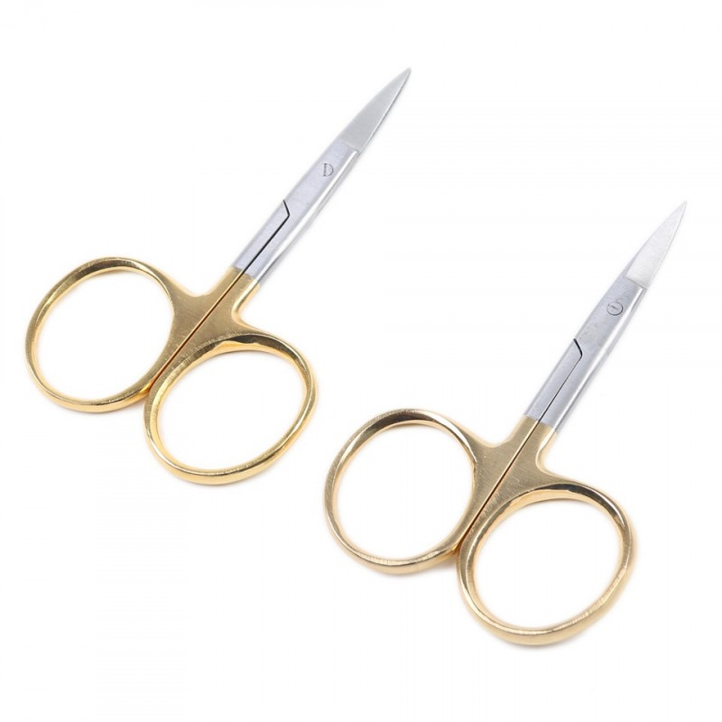 2pcs/lot New Fly Fishing Tying Scissors Stainless Steel Fishing Scissors