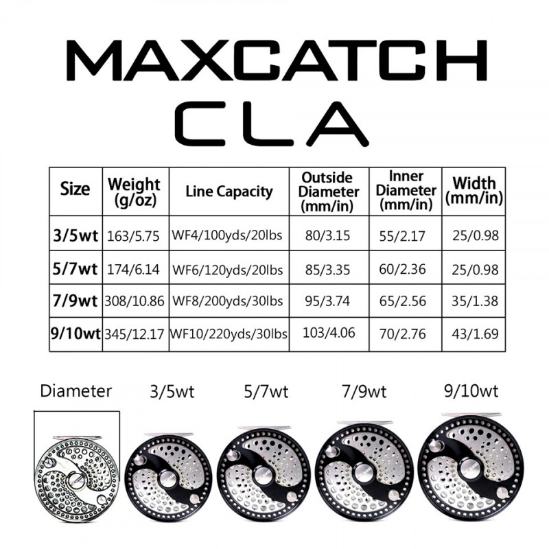 Classsic Disc Drag System CNC Machine Cut Aluminum Fly Reel(10 years warranty)