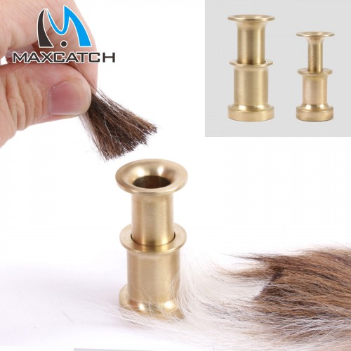 Hair Stacker Fishing Fly Tying Accessory Brass Fish Tackle Small/Medium