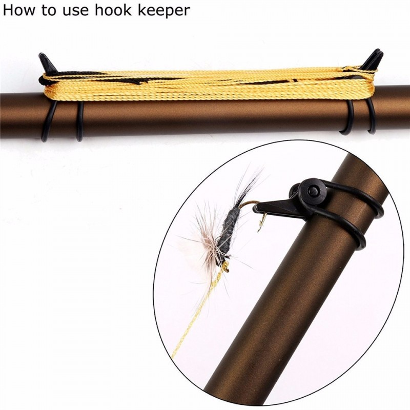 Tenkara Fly Rod Hook Keeper (2/4 sets 6/12 pcs)