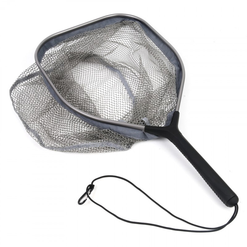 Fly Fishing Landing Net LCN-09 aluminum frame with rubber-coated nylon net