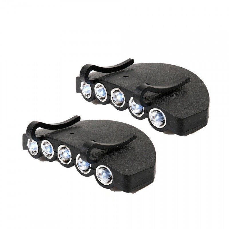 2 Pieces Led Cap Light Outdoor Headlamp Flashlight Powerful Fishing Light