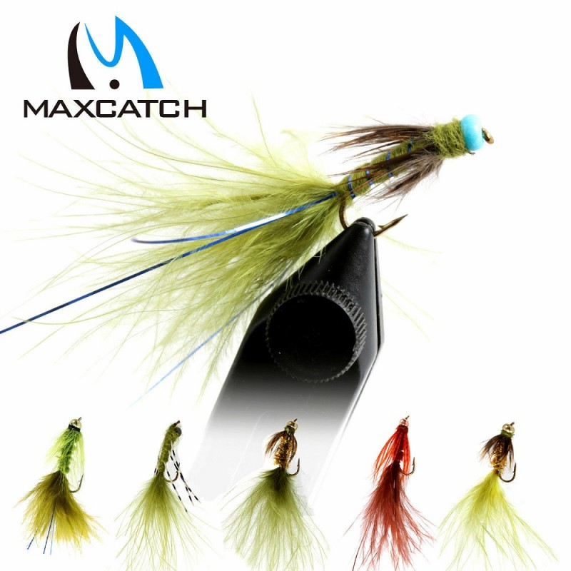 Damsel 12pcs Fly Fishing Fly Assortment Nymph A dozen 6 Patterns