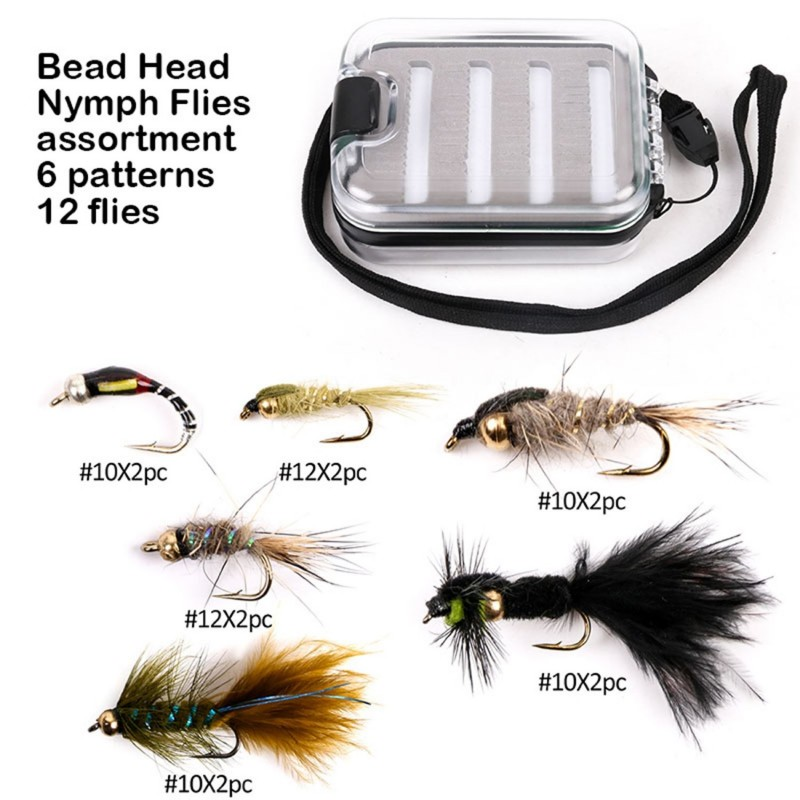 Professional fly fishing Bead head nymph assortment