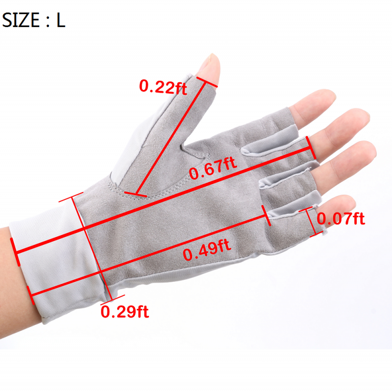 Glacier Anti-UV Sun Protection Fingerless Glove L/XL UPF50