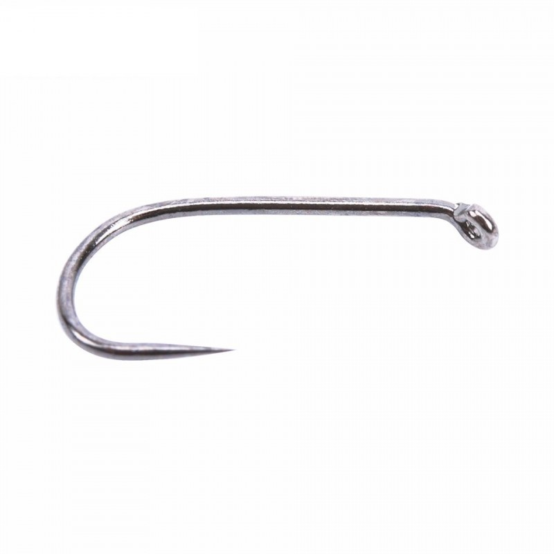 100Pcs Fly Tying Hook Fish-Friendly Barbless Dry Fly 12#/14#/16# MC-7210 High Grade Carbon Steel Fly Hook
