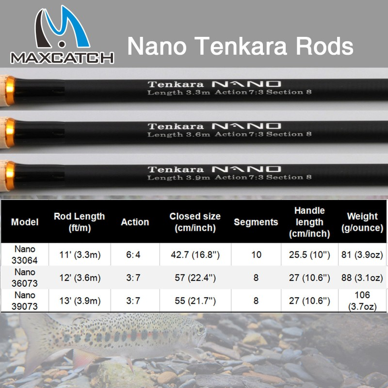 Telescopic Nano Carbon Tenkara Rod (12/13 ft.)