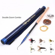3.9 m/4.5 m Double Zoom Tenkara Fly Fishing Kit - Tenkara Rod, Line & Flies