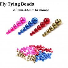 25 Pieces/lot 2.0-4.6mm Tungsten Fly Tying Beads Metalic Fly Nymph Ball Beads Fly Tying Material