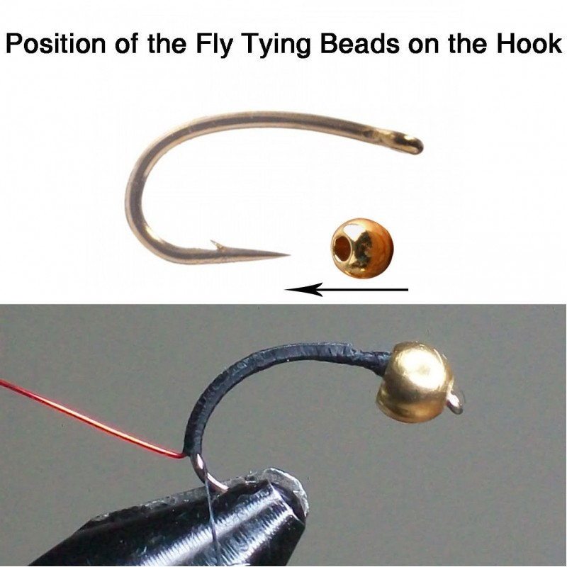 Tungsten Fly Tying Beads Assortment Colorful Hook Nymph Head Ball Beads