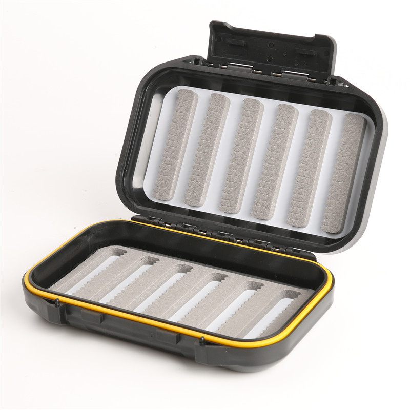 """OR Slit Foam Fly Box Waterproof Portable Design for Large Flies(5.35"""" x 3.38"""" x 1.41"""")"""