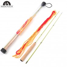 4.2FT/1.28M Practice Fly Rod 2 Pieces Orange Color Practice Fishing Rod