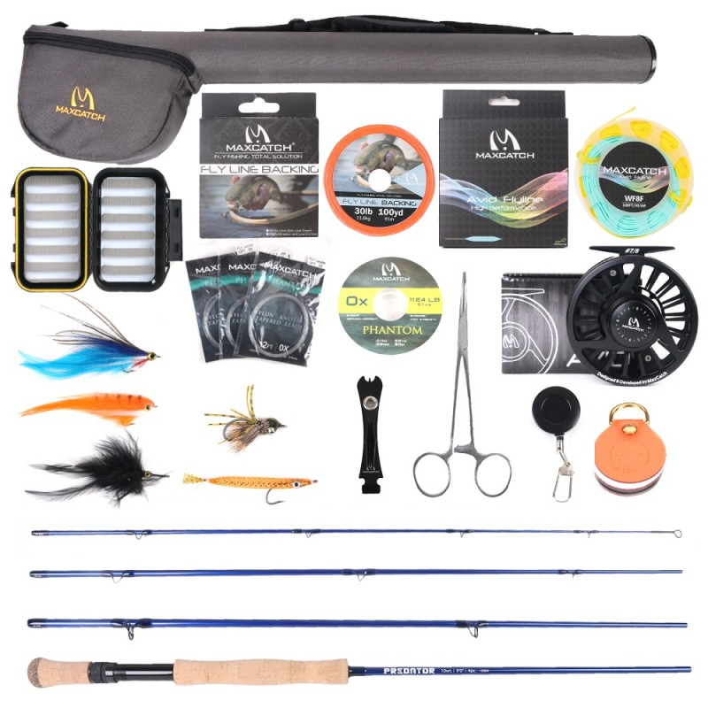 Predator 9ft 9wt Rod + Avid 9/10wt Reel +$3.00
