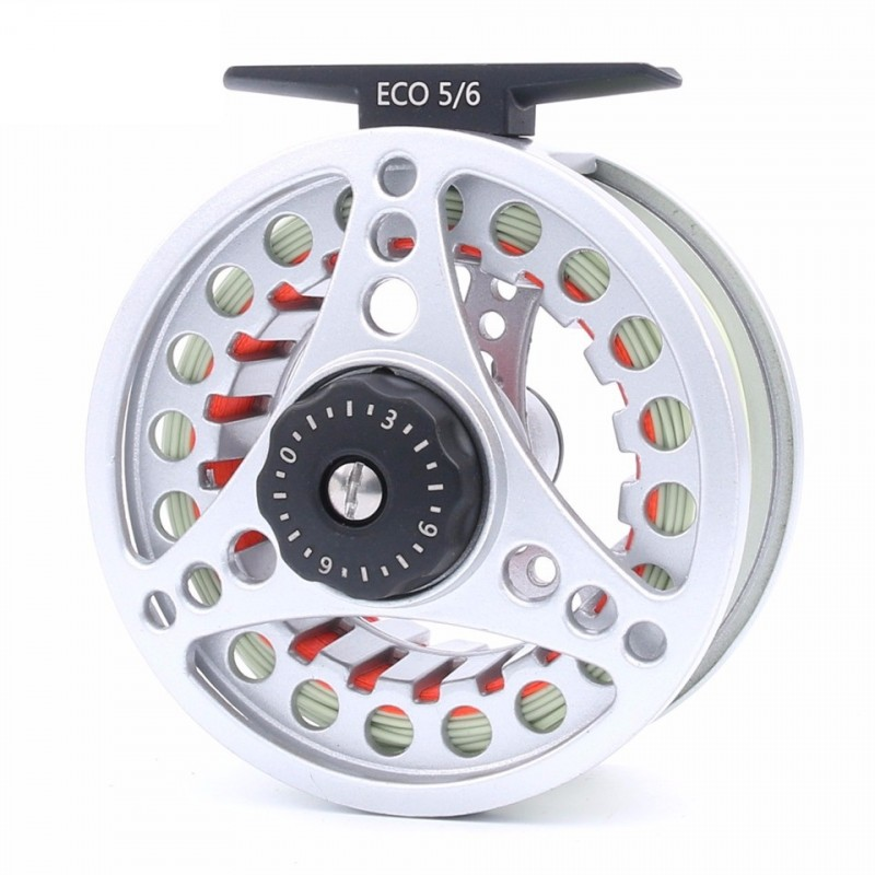 ECO 3-8WT Die-casting Large Arbor Aluminum Fly Reel With Line Combo