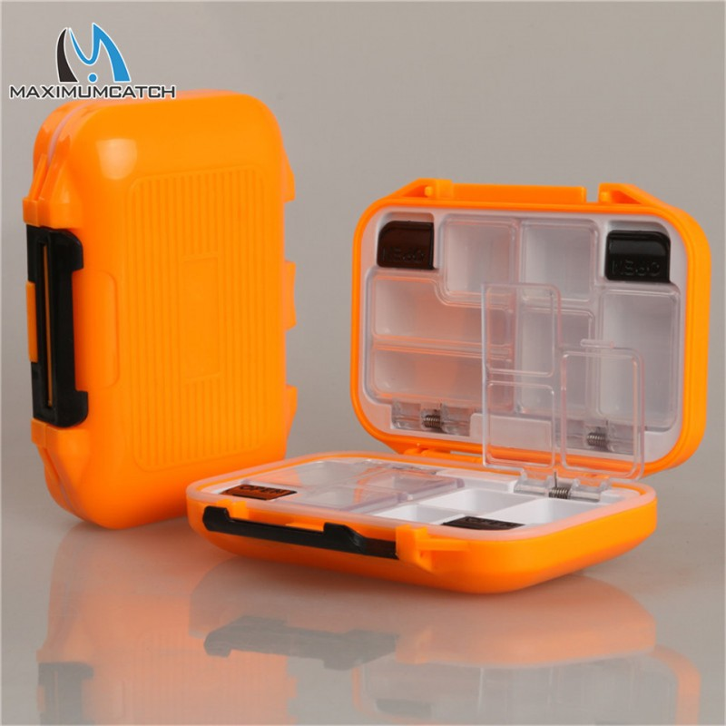High Quality 115*80*33mm Waterproof Fly Fishing Box Plastic Slit Foam And 12 Compartments Fly Box