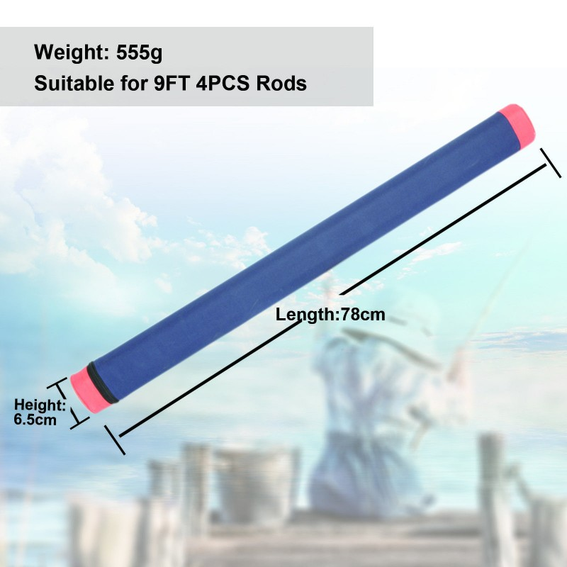 Maxcatch Fly Fishing Rod Tube Triangle Cordura Rod Tube TRTB For 9FT 4Sec Rods