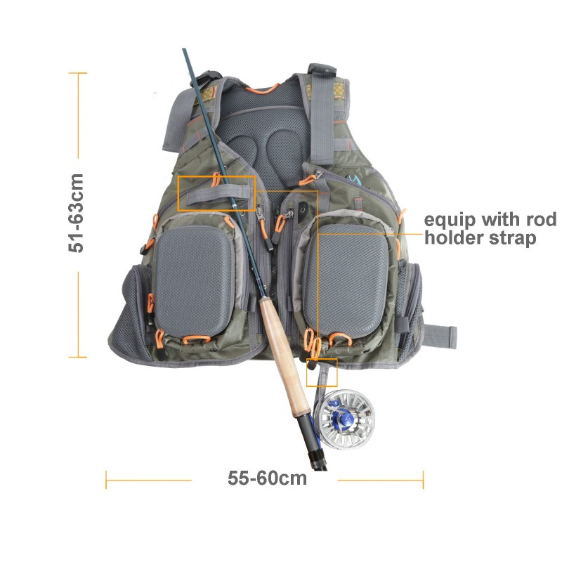 V-SBS Adjustable Outdoor Fly Fishing Vest & Backpack