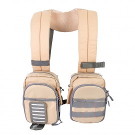 SCO Compact Fly Fishing Vest Light Weight Adjustable Chest Pack