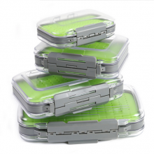 Fly Fishing Box Easy-grip Silicone Insert Tackle Boxes Double Side Clear Lid Fly Box