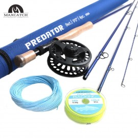 Saltwater Rod Combo 9' 9WT Fly Fishing Rod, 9/10WT Fly Reel, Line Kits
