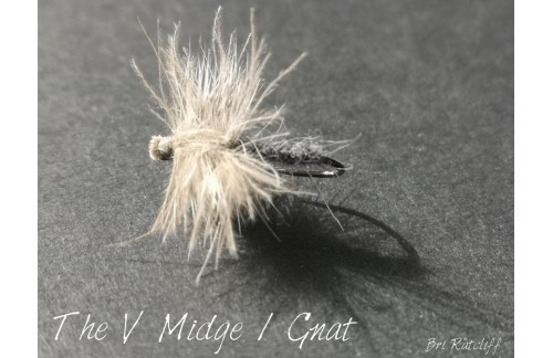 Simple Midge Dry Fly Tying Instructions
