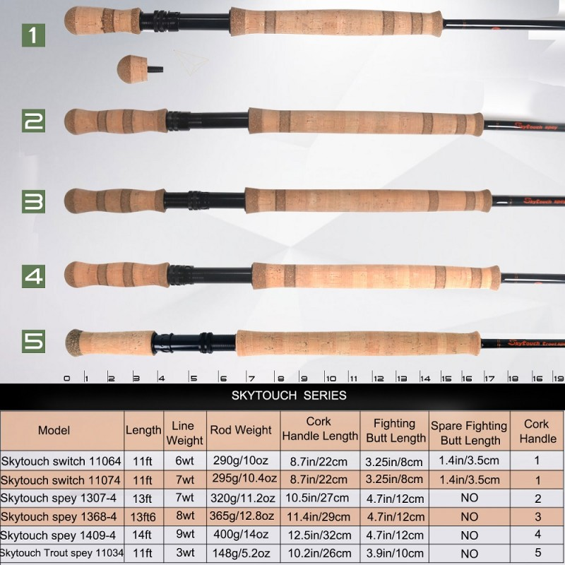 Skytouch Two-handed Switch & Spey Fly Fishing Rod