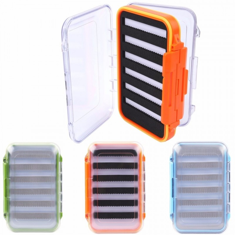 Fly Box Waterproof Double Side Slit Foam Fly Fishing Tackle Box