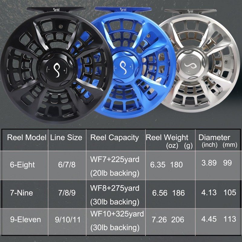 Sprint Heavy Duty Saltwater Fly Fishing Reel