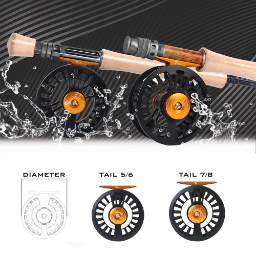 Tail Teflon Disc 5/6 7/8wt Light Weight Fly Reel