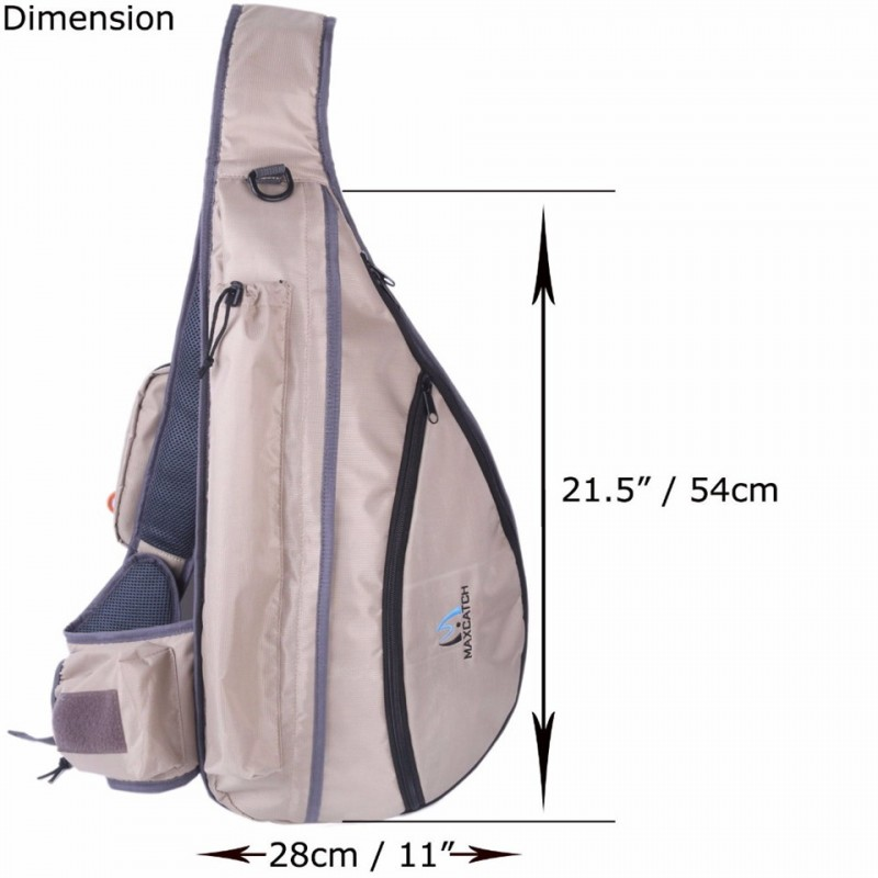 Tenkara Fly Fishing Sling Pack Bag with Fly Patch