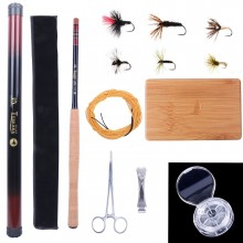Superior Tenkara Fly Fishing Kit (11 ft./12 ft./13 ft.)  - Tenkara Fly Rod, Line, Box & Flies