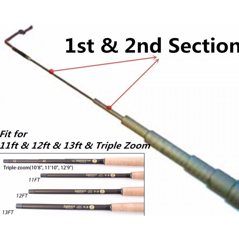 Tenkara Fly Rod Spare Tip - First & Second Sections