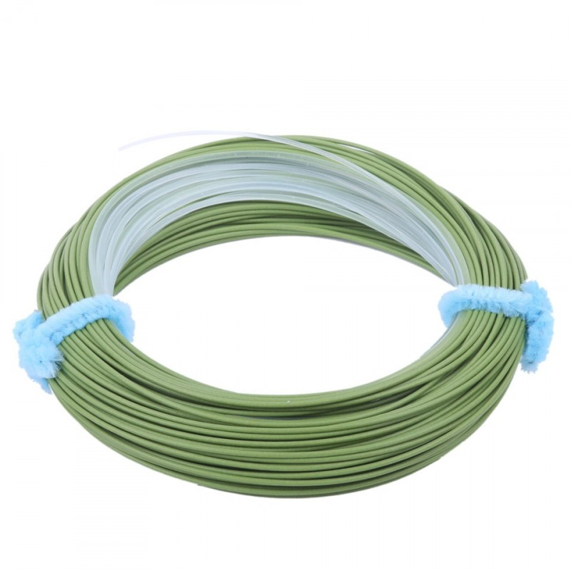 Tropical Fly Line WF8F/I Floating Fly Fishing Line with Intermediate Tip Sea Grass/Clear 100FT Fishing Line