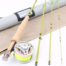 Super Light Carbon Fly Fishing Rod & Aluminum Reel & Line Combo 1-3 wt