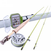 2WT Fly Rod Combo 6FT Fly Rod Aluminum Reel Weight Forward Line 12 Dry Flies Fly Fishing Outfit