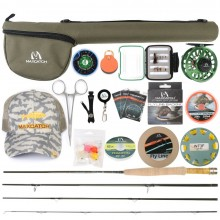 V-feather Fly Rod and Reel Outfit/Combo Complete Full Kit For Small Stream
