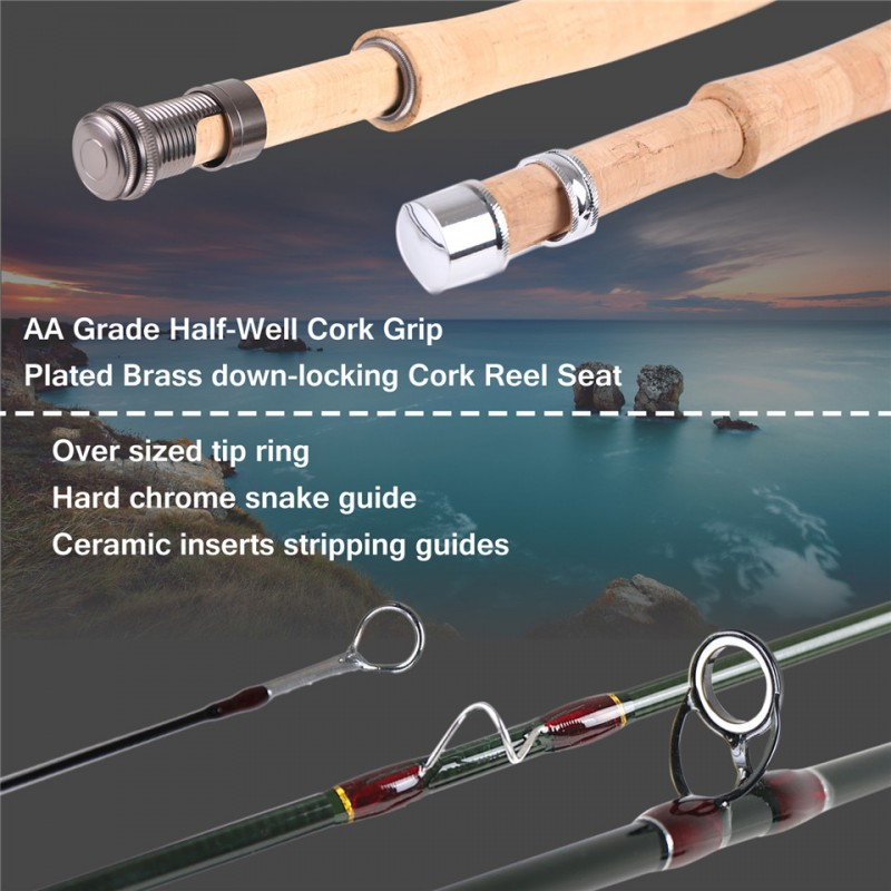 V-Light Fly Rod 4Sec Medium-Fast IM10 Fly Fishing Rod & Rod Tube