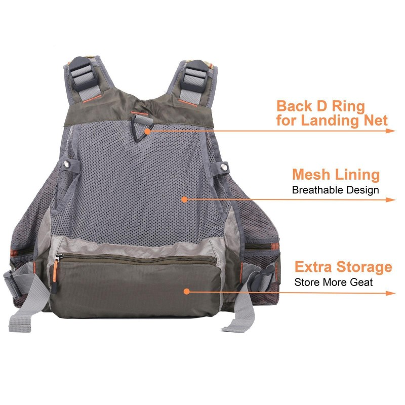 [Sales]Top Quality Mesh Fly Fishing Vest