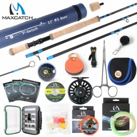 V-Switch Fly Rod Combo, 5/6/7/8wt Fishing Rod, Reel, Line, Box, Flies