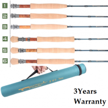 Camping Traveller 9FT 7-piece Medium-Fast Fly Fishing Rod &Cordura Tube(5/6/7/8 WT)