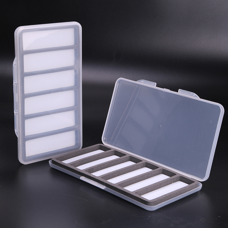 3 Pieces Fly Fishing Box Plastic And Magnetic With 6 Compartments Fly Box