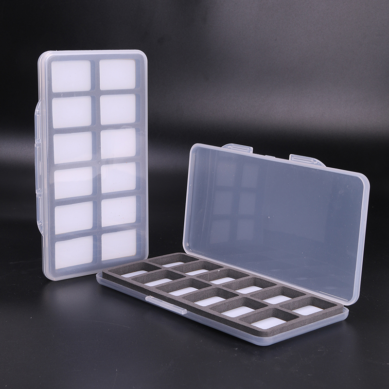 3 Pieces Fly Fishing Box Plastic And Magnetic With 12 Compartments Transprent Fly Box