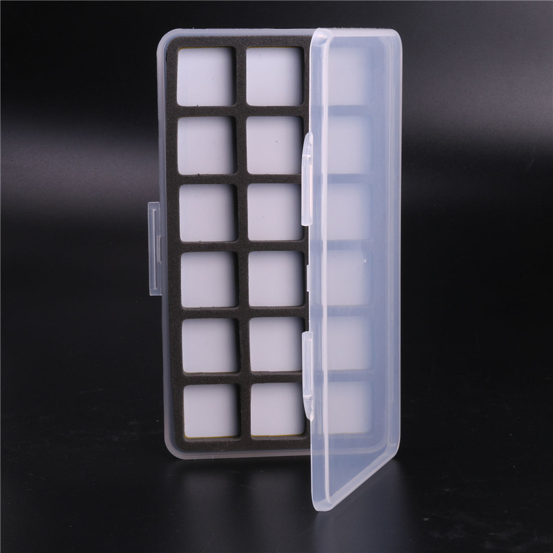 3 Pieces Fly Fishing Box Plastic And Magnetic With 18 Compartments Transprent Slim Hook Fly Box