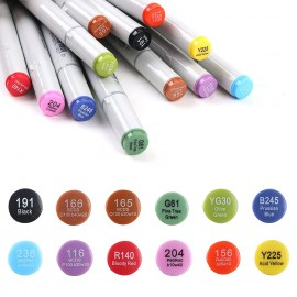 Waterproof Fly Tying Marker Double Head Pen UV Resistant 12 Colors