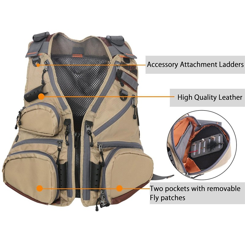 Fly Fishing Vest Pack Adjustable Mesh Vest Jacket