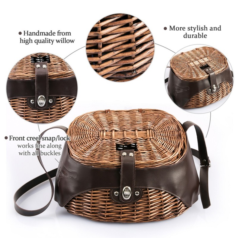 New Design Willow Fishing Basket
