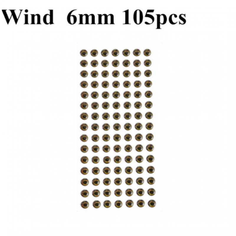 Wind 6mm 105pcs