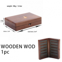Natural Wooden Fly Box Double Side Slit Foam Insert Fly Fishing Tackle Box Fishing Flies Storage