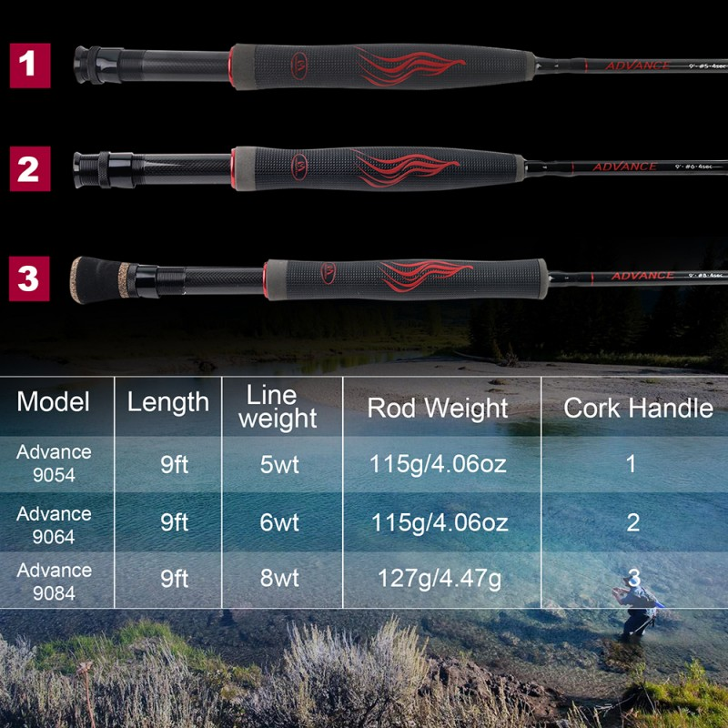 ADVANCE Fast Action Fly Fishing Rod