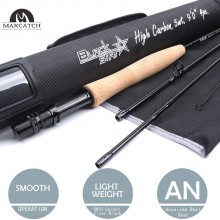 BLACK Top Grade Fast Action Carbon Fiber Fly Rod